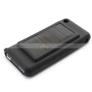 iPhone 3G 3Gs iPhone4 Solar Power Charger Case Black