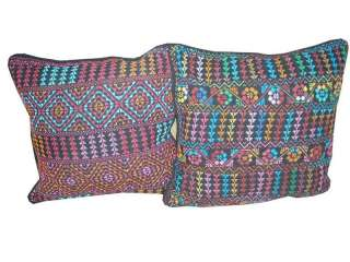 Hand Stitched Egyptian Bedouin Sofa Cushion Covers #4