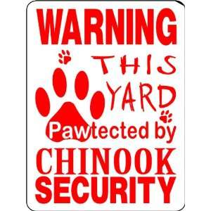 CHINOOK ALUMINUM GUARD DOG SIGN PP39