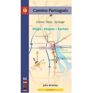 com Camino Portugues Maps   Mapas   Karten Lisboa   Porto   Santiago