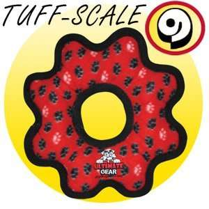 Tuffys Ultimate Gear Ring Plush Dog Toy Red Paw