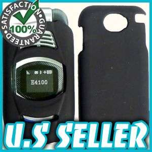 RUBBER BLACK HARD SNAP CASE COVER FOR SANYO TAHO E4100