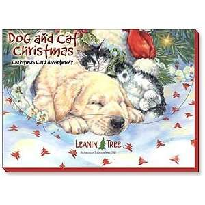 : Leanin Tree Dog And Cat Christmas Christmas Card: Everything Else