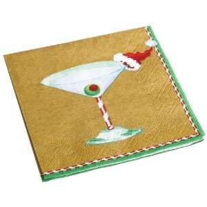 Caspari Christmas Cocktail Paper Cocktail Napkin Package