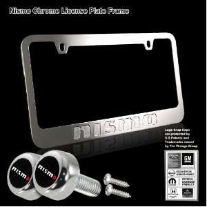 NISMO Stamped High Quality Chrome Plating Cast Zinc License Plate
