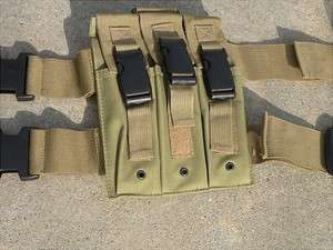 Drop Leg SMG Magazine Pouch, MP5, GSG 5, OD