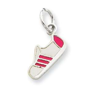 Silver Pink Enameled Sneaker Charm West Coast Jewelry Jewelry