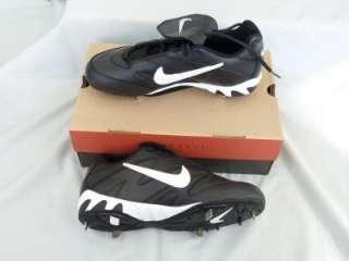 New with Box   NIKE Slasher Baseball Cleat Mens size 9 White on Black