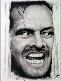 Jack Nicholson Sketch Portrait Charcoal Pencil Drawing