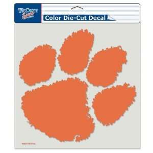 Clemson Tigers Die Cut Decal   8in x8in Color Sports