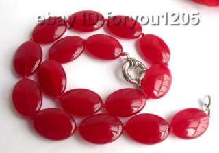 Stunning18 Natural red Chunk Jade Necklace