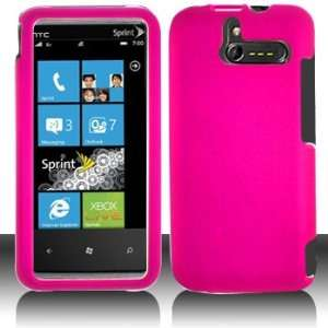 HTC 7575 Arrive Rubber Hot Pink Case Cover Protector (free