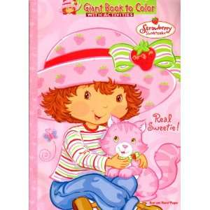Strawberry Shortcake Giant Book to Color ~ Real Sweetie Toys & Games
