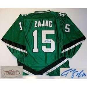 Travis Zajac Signed Jersey   North Dakota Jsa: Sports