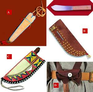 Sheath Kits,Crow Kit,Eastern Neck Knife,Parfleche Kit,Belt Axe Sheath