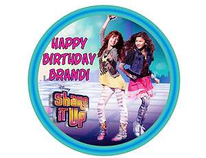 Shake it Up round edible party cake topper decoration cake frosting