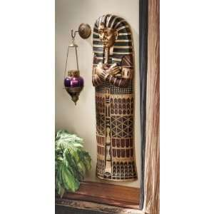 Statue King Tut Sarcophagus Wall Sculpture Figurine: Home & Kitchen