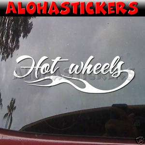 HOT WHEELS FLAME Racing Car Window Decal Sticker FL55