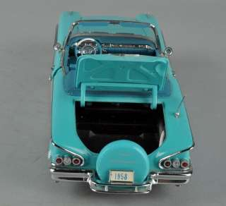 DANBURY MINT 1958 Chevy Impala Convertible 124 Die Cast Model Car w