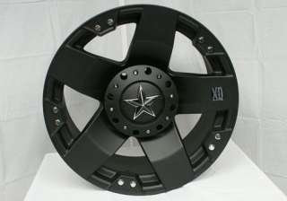 18 x9 XD Series XD775 Rockstar Matte Black 5 6 8 Lug Wheels Rims FREE