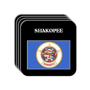 US State Flag   SHAKOPEE, Minnesota (MN) Set of 4 Mini