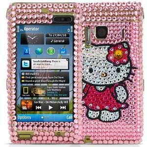 PINK HELLO KITTY CRYSTAL BLING CASE COVER FOR NOKIA N8 Electronics