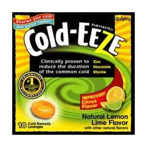 Cold Eeze Cough Suppressant Lozenges, Natural Lemon Lime Flavor   18