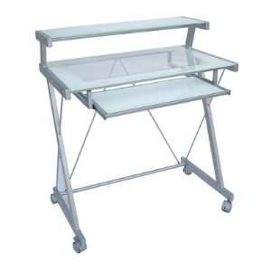 Home Source Industries 3345 Computer Cart with Glass Desk