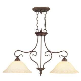 NEW 2 Light Kitchen Island Pendant Lighting Fixture, Bronze, Vintage