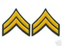 Military Army Pair Corporal Rank Insignia patches