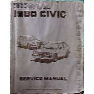 Honda Civic Service Manual 1980 (9781121218925): Honda: Books