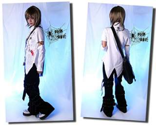 Visual KEI Punk Gothic t shirt top NANA cosplay coat