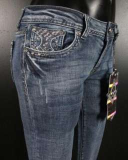 NWT Womens LA IDOL Bootcut Jeans LACEY STITCHED CRYSTALS 1201LP