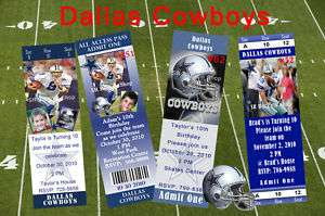 Birthday Invitations Dallas Cowboys Personalized ★