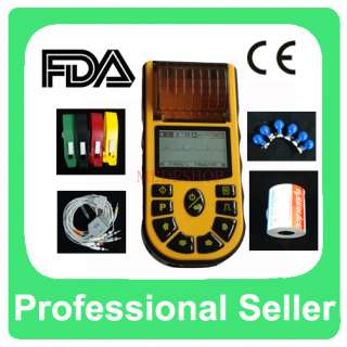 Hand Held Single Channel ECG EKG machine LCD with Free Software