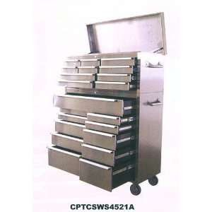45   21 Drawer Stainless Steel Toolbox (Tool Chest