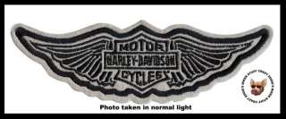 HARLEY DAVIDSON WINGED BAR SHIELD NIGHT VISION PATCH ** MADE IN USA