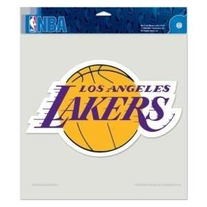 Los Angeles Lakers Die cut Decal   8x8 Color Sports