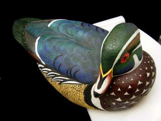 Culbertson Ducks Unlimited Wood Duck Decoy Heavy Resin