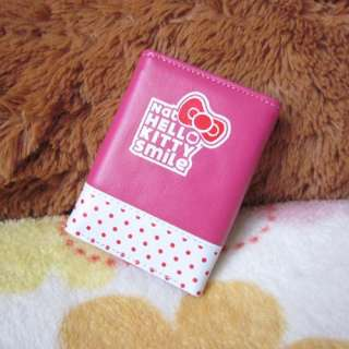 Pop HelloKitty With Big Bow Girl Women Tri Fold Card Bag Purse Wallet