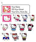 Personalized HELLO KITTY Address Labels Many designs