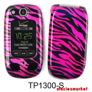 Transparent Design Hot Pink Zebra Print Samsung Convoy 2 U660 Case