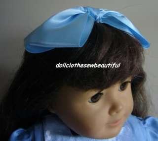 18 Inch Doll Clothes Blue Victorian Dress & Hair Bow