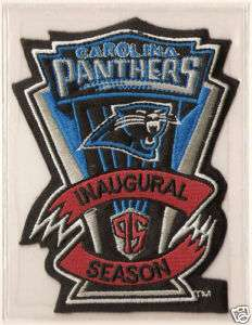 1995 CAROLINA PANTHERS NFL FOOTBALL 1ST SEASON PATCH
