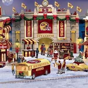 San Francisco 49ers Collectible Christmas Village