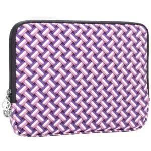 8.9   10 inch Purple White Weave Polyurethane Laptop Netbook