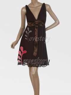 Empire Line Embroidery Hem Dance Dresses 02718 610585942369