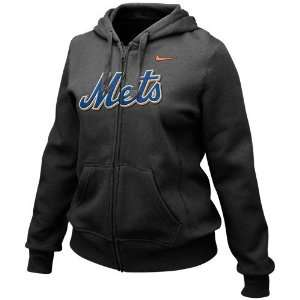 Nike New York Mets Ladies Black Classic Full Zip Hoody