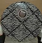 ZEBRA ANIMAL PRINT BLACK WHITE ROU