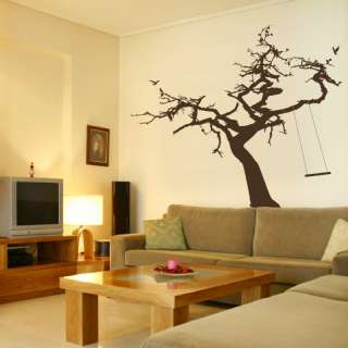 TREE & ROPE SWING giant large wall sticker / decal ne32